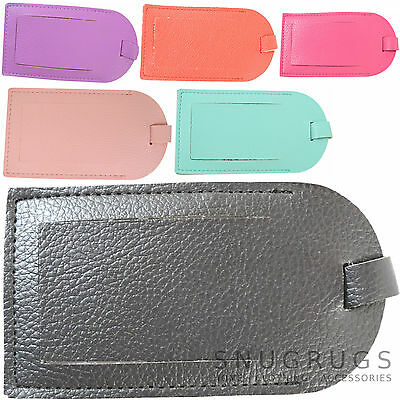 Holiday / Travel Luggage / Baggage / Suitcase Faux Leather Id Tag / Label
