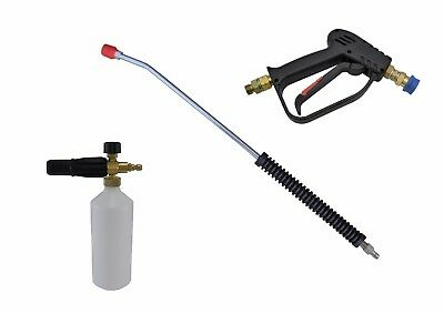Compact Quick Release 11.6mm Wash Gun, 700mm Lance & Snow Foam Lance M22M Inlet