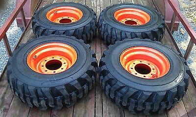 4 NEW 12X16.5 Skid Steer Tires & Wheels/Rims for Bobcat - 12-16.5 - 12 ply