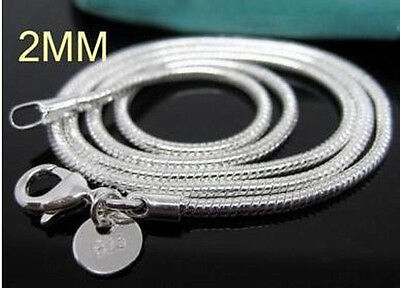 10PCS Wholesale 925Sterling Silver Vivid Snake Chains/Necklace C010 16-24INCH