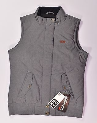 Roxy WARM UP INSULATOR Womens Zipper Front Vest Medium NEW