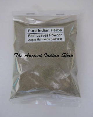 BEAL LEAVES, Aegle Marmelos Leaves, Indian Herbs Powder, Natural and Fresh!