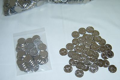 50  =NEW=  STAINLESS STEEL NON-MAGNETIC SKILL SLOT MACHINE TOKENS / COINS W/FREE
