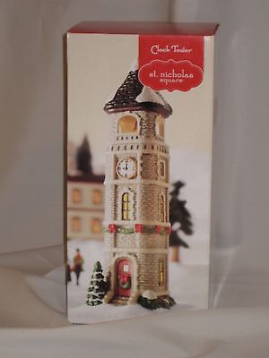 """St Nicholas Square """"Illuminated Clock Tower"""" from Christmas Village Collection"""