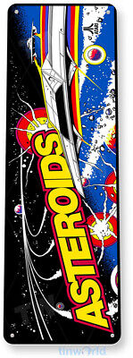 "TIN SIGN ""Asteroids"" Arcade Shop Game Room Marquee Console Metal Decor A225"
