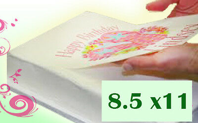 Frosting  Icing Sheets 8.5x11 Letter Size for edible printers 24 Pack