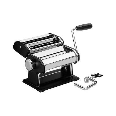 Black Pasta Maker Machine Chrome Body Stainless Steel Blade With Manual Handle