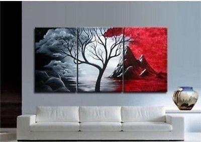 Modern Abstract Huge Art Oil Painting Handmade canvas on wall with (NO Framed)
