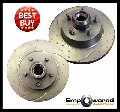DIMPLED SLOTTED FRONT DISC BRAKE ROTORS w/WARRANTY for Holden HQ HJ 71-76 RDA14D