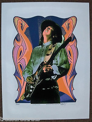 1995 Pop Culture Art Stevie Ray Vaughan Mark Arminski signed Limited Ed Proof
