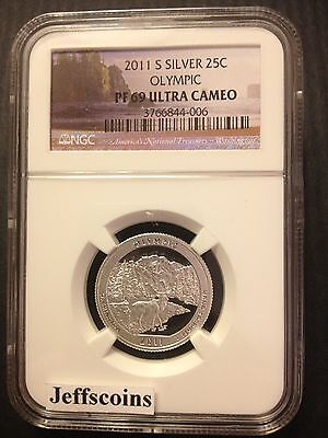2011 S NGC PF69 Silver Proof OLYMPIC National Park Quarter US ATB #8 90%