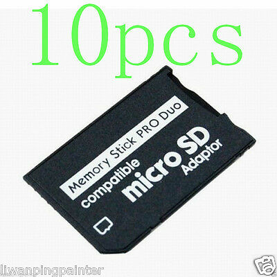 10X Micro SD SDHC TF to Memory Stick Pro Duo Adapter 8gb 16gb 32gb for Sony PSP
