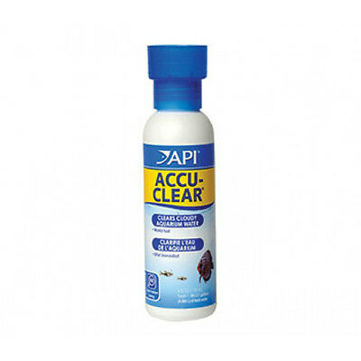 Api Accu Clear 118Ml - Helps Clear Dirty Cloudy Aquarium Tank Water Works Fast