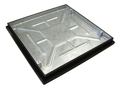Recessed Manhole Cover with Frame 600 x 600 x 46mm Sealed and Locked