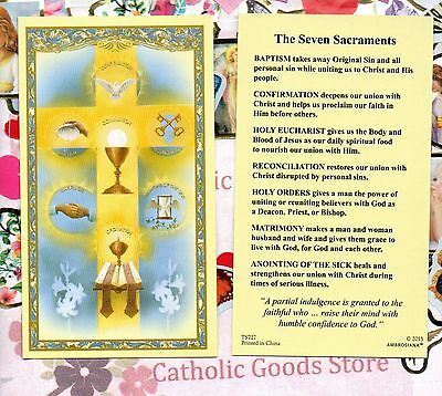Seven Sacraments - Paperstock Holy Card