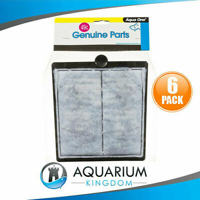6x 25049C Aqua One Carbon Cartridge 49C - ClearView 800 Filter Media Clear View