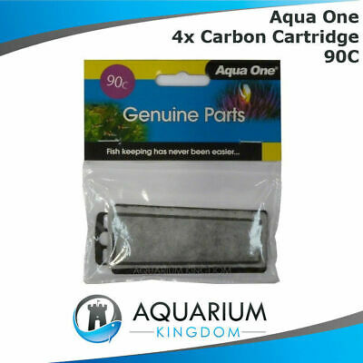 4 x 25090C Aqua One Carbon Cartridge 90C - ClearView 75 Replacement Filter Media