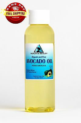 AVOCADO OIL REFINED ORGANIC by H&B Oils Center COLD PRESSED 100% PURE 2 OZ
