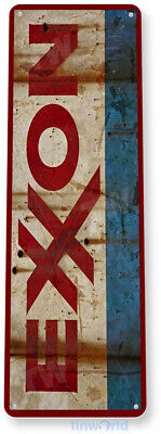 Exxon Gas Oil Sign, Station, Garage, Auto Shop, Retro Rustic Tin Sign A359