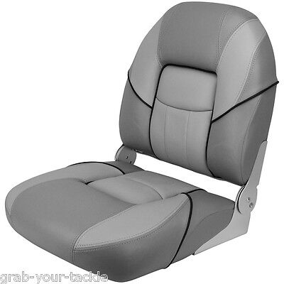 Boat Seat Deluxe Folding Padded Grey Quality Relaxn Marine Chair & Free Cover