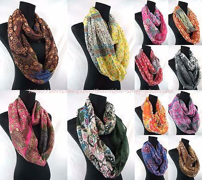 $3.5/p, lot of 6 wholesale infinity scarf loop Scarves for Women endless shawl