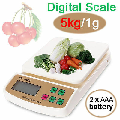LCD Digital Kitchen Weight Scale 5KG/0.1G Electronic Postal Blance Food Scales