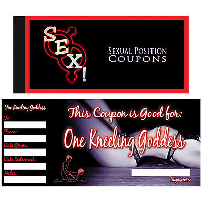 SEX! SEXUAL POSITION COUPONS Book Naughty ADULT Saucy Romantic Gift XXX Voucher