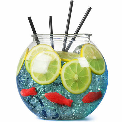 BarBits Plastic Cocktail Fish Bowl 3 Litres Fishbowl Games Partys Punch Sweets