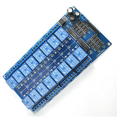 12V 16 Channel Relay Module Interface Board For Arduino PIC ARM DSP PLC