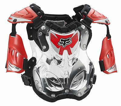 Fox Racing R3 Roost Deflector Chest Protector Adult & Youth Red Clear MX ATV MTB
