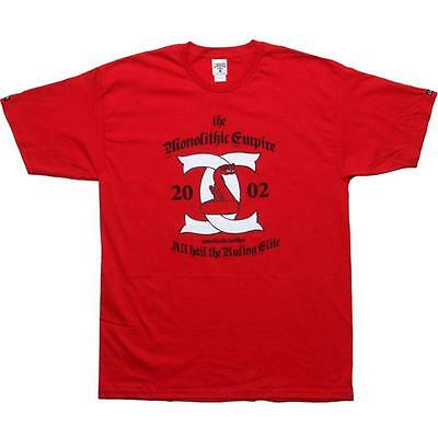 $35 Crooks and Castles Monolithic Scroll Tee red