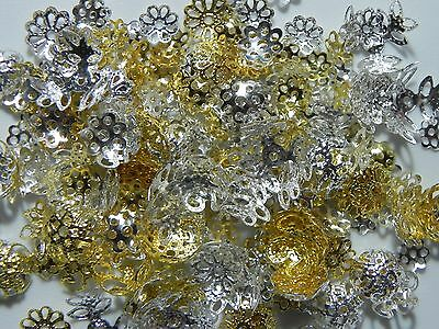 Metal, Bead Caps Jewelry Findings Pick your Size: 6mm 8mm 10mm ✰✰USA Seller✰✰