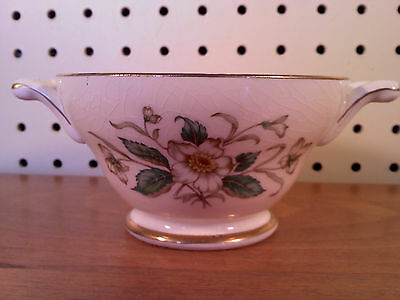 Knowles Ceramic Sugar Bowl No Lid & Painted Floral Design, used
