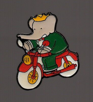 pin's Babar / mobylette