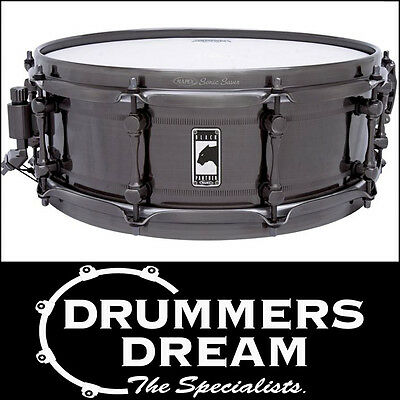"""MAPEX BLACK PANTHER """"PANTHER"""" 14x5"""" SEAMLESS STEEL SNARE DRUM NEW"""