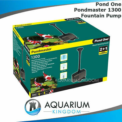 Pond One PondMaster 1300 Fountain Pump Kit- Indoor Outdoor Feature Ponds 1100L/h