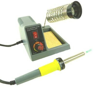 Soldering Station Features Continuously Variable Power Between 5-40W, a 1.5mm Po