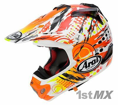 a0a7f439 Arai MXV Scratch Yellow Orange Motocross Offroad Helmet Adults Large 59-60cm