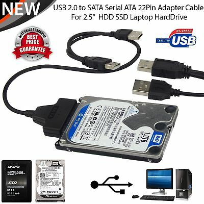USB To SATA External HDD SSD Hard Disk Drive Adapter  2.5″ Converter Lead Cable