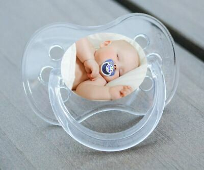 Unique Dummy Pacifier Soother,  All Teats, Sizes & Colours, Upload Own Photo