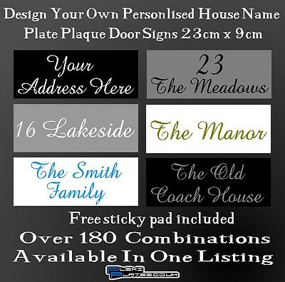 Personalised House Address Door Name Plaque Plastic Sign Plate Xmas Home Gate