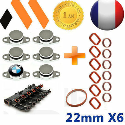 6 Bouchons Clapet Volet D'admission  22 Mm Bmw ++Joints 330D 330Cd 320D 530D