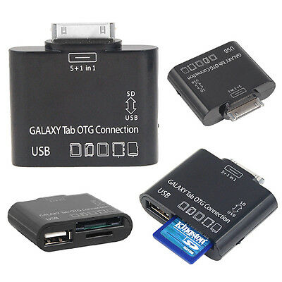 5 in 1 OTG Adapter USB SD Card Reader Samsung Galaxy Tab 2 Plus 7.0 10.1 P3100
