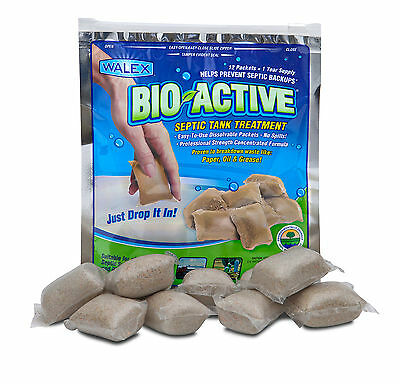 BIO-ACTIVE Septic Tank Care (12 Sachets) 1 Years Supply Waste Tank Treatment