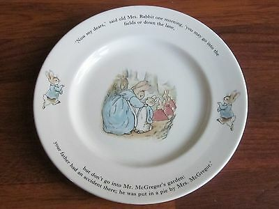 """Wedgwood PETER RABBIT Cake Plate 9 3/4"""" diameter England New with Tag"""