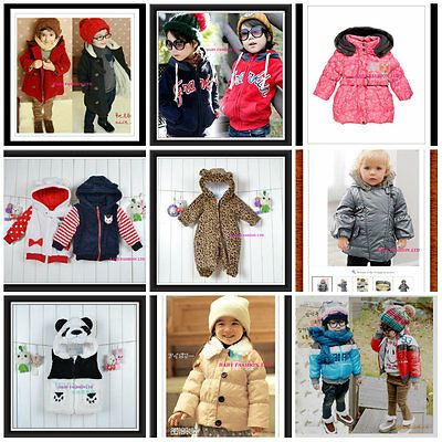 Toddler Kids  Winter Snowsuit Jacket playsuit Size 0-7 Years Old.