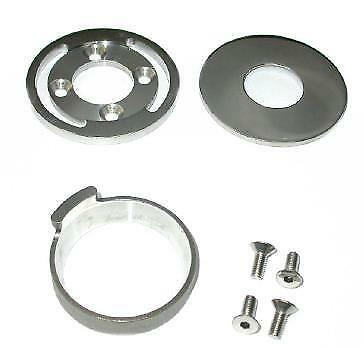 Zodiac 094248 Hidden Fork Stop Kit Stainless Steel Suit Harley Big Twin 89-Up