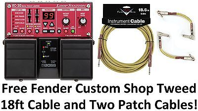 New Boss RC-30 Loop Station Guitar Pedal! FREE Fender Custom Shop Cables!