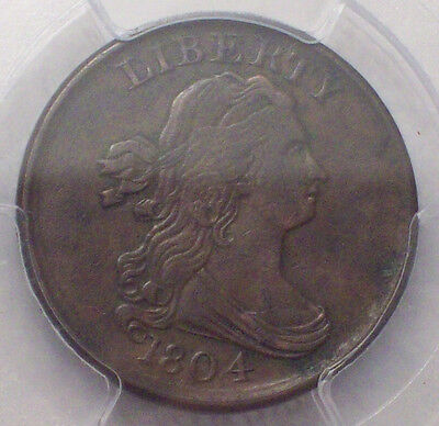 1804 PCGS Bust HALF CENT RARE PCGS XF Details C-13 Authentic Colonial US Coin