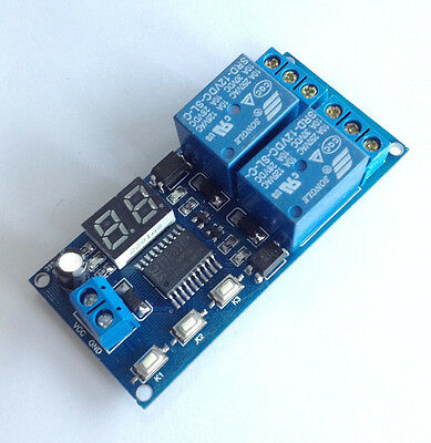 12V 2 Channel Multi-function Delay Relay Delay-off time Adjustable Board 51×31mm